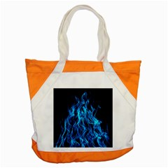 Digitally Created Blue Flames Of Fire Accent Tote Bag