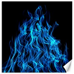 Digitally Created Blue Flames Of Fire Canvas 12  X 12