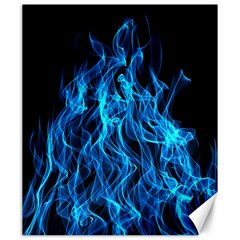 Digitally Created Blue Flames Of Fire Canvas 20  X 24
