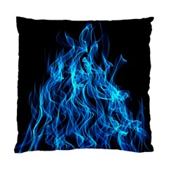 Digitally Created Blue Flames Of Fire Standard Cushion Case (two Sides)