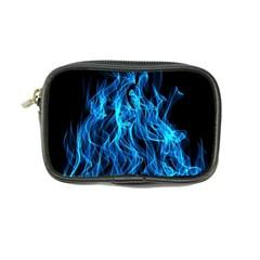 Digitally Created Blue Flames Of Fire Coin Purse