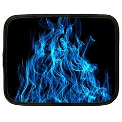 Digitally Created Blue Flames Of Fire Netbook Case (xl)