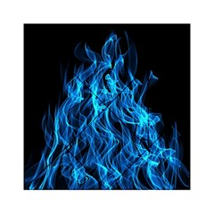 Digitally Created Blue Flames Of Fire Acrylic Tangram Puzzle (6  x 6 )