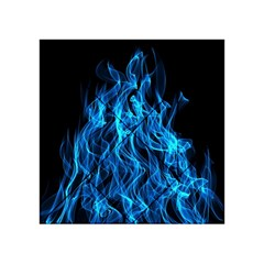 Digitally Created Blue Flames Of Fire Acrylic Tangram Puzzle (4  x 4 )
