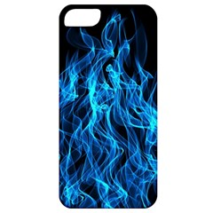 Digitally Created Blue Flames Of Fire Apple iPhone 5 Classic Hardshell Case