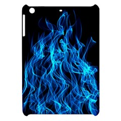 Digitally Created Blue Flames Of Fire Apple iPad Mini Hardshell Case