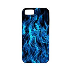 Digitally Created Blue Flames Of Fire Apple iPhone 5 Classic Hardshell Case (PC+Silicone)