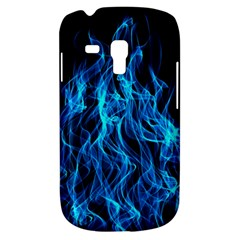Digitally Created Blue Flames Of Fire Galaxy S3 Mini
