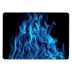 Digitally Created Blue Flames Of Fire Samsung Galaxy Tab 10.1  P7500 Flip Case