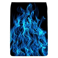 Digitally Created Blue Flames Of Fire Flap Covers (S)