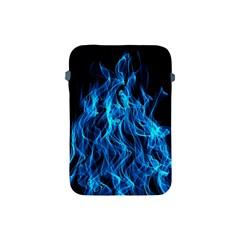 Digitally Created Blue Flames Of Fire Apple iPad Mini Protective Soft Cases