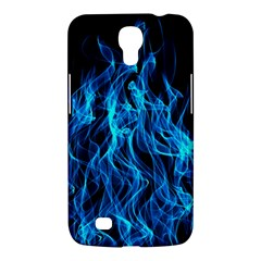 Digitally Created Blue Flames Of Fire Samsung Galaxy Mega 6.3  I9200 Hardshell Case