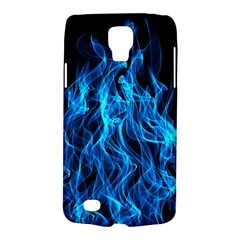 Digitally Created Blue Flames Of Fire Galaxy S4 Active