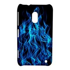 Digitally Created Blue Flames Of Fire Nokia Lumia 620