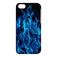 Digitally Created Blue Flames Of Fire Apple Iphone 5c Hardshell Case