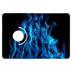 Digitally Created Blue Flames Of Fire Kindle Fire HDX Flip 360 Case