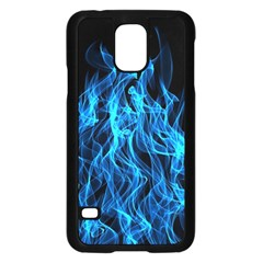 Digitally Created Blue Flames Of Fire Samsung Galaxy S5 Case (black)