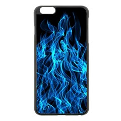 Digitally Created Blue Flames Of Fire Apple iPhone 6 Plus/6S Plus Black Enamel Case