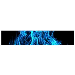 Digitally Created Blue Flames Of Fire Flano Scarf (Small)
