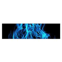Digitally Created Blue Flames Of Fire Satin Scarf (Oblong)