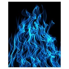 Digitally Created Blue Flames Of Fire Drawstring Bag (small)