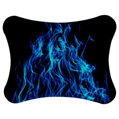 Digitally Created Blue Flames Of Fire Jigsaw Puzzle Photo Stand (bow)