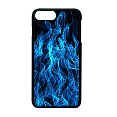 Digitally Created Blue Flames Of Fire Apple Iphone 7 Plus Seamless Case (black)
