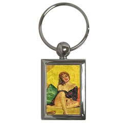Pin up girl  Key Chains (Rectangle)