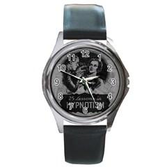 Vintage Hypnotism Round Metal Watch