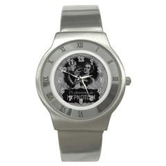 Vintage Hypnotism Stainless Steel Watch