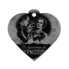 Vintage Hypnotism Dog Tag Heart (Two Sides)