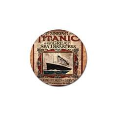 Titanic Golf Ball Marker (4 pack)