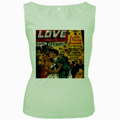 Love stories Women s Green Tank Top