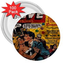 Love stories 3  Buttons (100 pack)