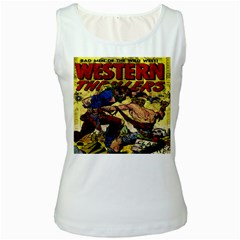 Western Thrillers Women s White Tank Top