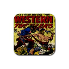 Western Thrillers Rubber Coaster (Square)