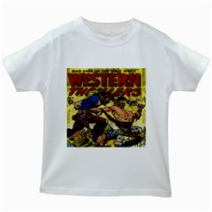 Western Thrillers Kids White T-Shirts