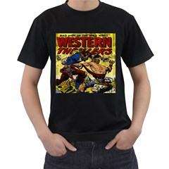 Western Thrillers Men s T-Shirt (Black) (Two Sided)