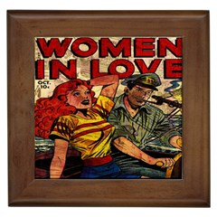 Woman in love Framed Tiles
