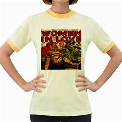 Woman in love Women s Fitted Ringer T-Shirts
