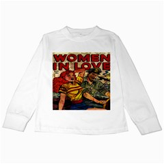 Woman in love Kids Long Sleeve T-Shirts