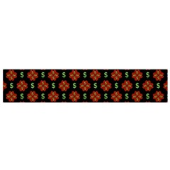 Dollar Sign Graphic Pattern Flano Scarf (Small)