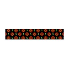 Dollar Sign Graphic Pattern Flano Scarf (Mini)
