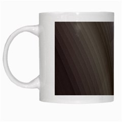 Fractal Background With Grey Ripples White Mugs