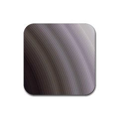 Fractal Background With Grey Ripples Rubber Coaster (square)
