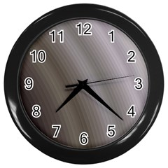 Fractal Background With Grey Ripples Wall Clocks (black)