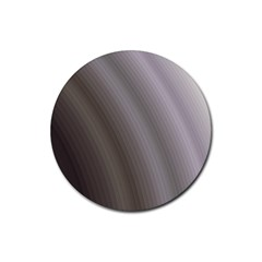 Fractal Background With Grey Ripples Rubber Round Coaster (4 Pack)