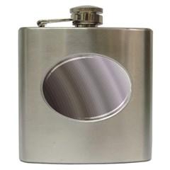 Fractal Background With Grey Ripples Hip Flask (6 Oz)