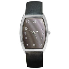 Fractal Background With Grey Ripples Barrel Style Metal Watch