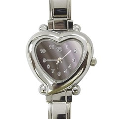 Fractal Background With Grey Ripples Heart Italian Charm Watch